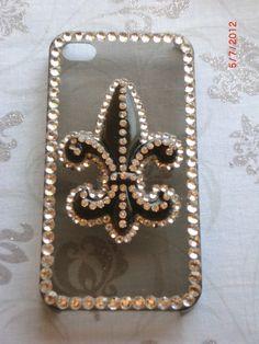 Fleur de Lis iPhone 4 4s Bling Case by LavenderLollypops on Etsy, $20.00.   #fleur_de_lis #iphone_case