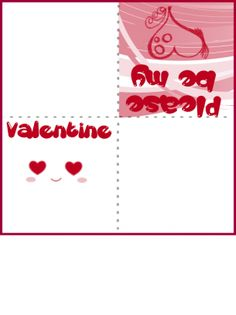 Valentines Day Plain Heart Card  Free Printable Cards