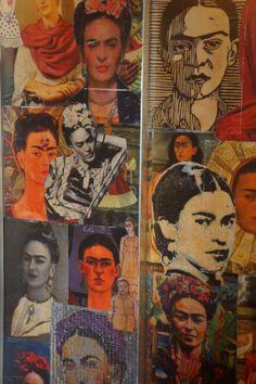 Frida Kahlo Ihre Selbtpoträts... Die Selbstpoträts in Gestalt von Tieren habe ich noch nicht gefunden :)