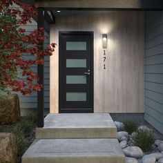 When designing your backyard, don't forget to carefully plan your lighting as well. Get great ideas for your backyard oasis here with our landscape lighting design ideas. Exterior Paint Colors For House, Paint Colors For Home, House Colors, Outdoor Wall Sconce, Outdoor Walls, Garage Door Design, Garage Doors, Car Garage, Building A Porch