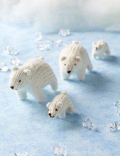 Free Knitting Pattern for Polar Bear Teeny Toys