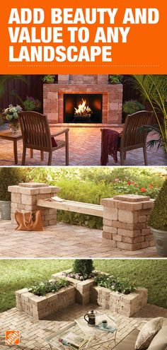 Landscaping Supplies at The Home Depot : Pre-cut blocks easily create planters, benches, fire pits, tree rings and more. The landscape possibilities are endless with RumbleStone patio pavers, available at The Home Depot.