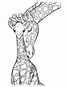 giraffe with baby coloring pages