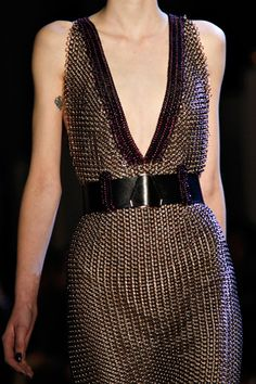 YSL chain mail dress for Brienne