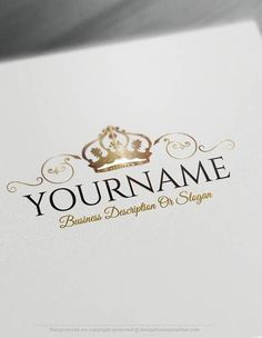 Create a logo Free – Crest Crown Logo Templates: