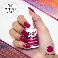 Wander far and wide this holiday season with 'Gypset Love' from the #BohemianGypsy collection. This #progel polish is a deep magenta crème that will make any #mani standout.