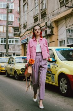 Pastel Outfit, Pastel Shoes, Purple Outfits, Cute Spring Outfits, Colourful Outfits, Cute Outfits, Pastel Colors, Stylish Outfits, Color Combinations For Clothes