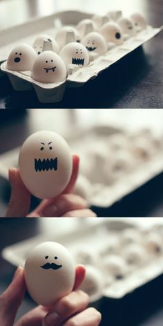 Hard boiled eggs and a Sharpie.  What could be easier?