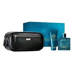 Versace Eros Men's Gift Set - 3.4 oz EDT Spray,  3.4 oz Shower Gel, Travel Bag *** Check this awesome image  : Travel Perfume and fragrance