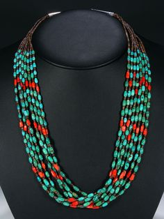 Native American Necklaces and Pendants from Navajo, Santo Domingo, Hopi