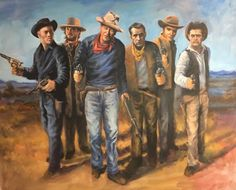 Art by Joe Zapp Cowboy Art, Western Movies, Caricature, Cowboys, Westerns, Actors, Country, Painting, Rural Area