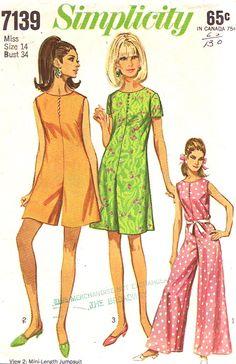 Simplicity 7139 - Vintage 1968