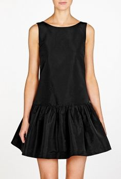 Black Dropped Waist Dress by Red Valentino Valentino Black, Drop Waist,  Fashion Outlet, db52408954