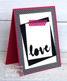 Stampin! Up! Cards | Washi Tape | Punch Art | Paper Craft | Card Making Ideas | Use the negative space from a die cut or punch to create a gorgeous handmade greeting card