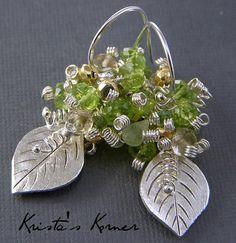 Signature Original Earring Style Gemstone by kristaskorner on Etsy