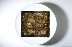 Laser-Cut Nori Doily on plate