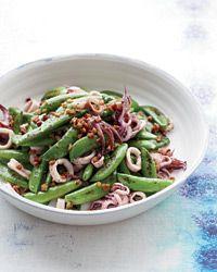 Summer Squid Sauté by Marcia Kiesel, foodandwine #Squid #Sugar_Snap_Peas #Pancetta #foodandwine