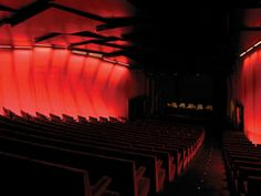 Agbar Tower Auditorium, Barcelona (Nouvel & b720 Archs; ECLER Lighting Des). Interestingly the lighting employs 28T5 lamps controlled by remote DMX dimming system, which permits variation of lighting colors and brightness.