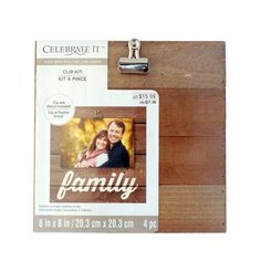 Made with Love Photo Clip Kit by Celebrate It™ Create a lovely family memento with this easy-to-use photo clip kit. Just select your favorite photograph and use the included stencil and instructions to make a unique piece that will look great on any wall or desktop. It's perfect for Mother's Day, Father's Day or other special occasions.