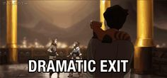 Dramatic exit / iFunny :)