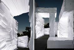 """kwangho lee carves foam for EPS grotto / seoul pavilion project - designboom | architecture & design magazine"""
