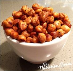Lemon Sage Chickpea Bursts | Crunchy & Delish!  Packed with protein & fiber for only 105 calories! | Perfect, satisfying snack! | NutritionTwins.com