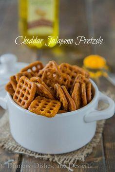 Cheddar Jalapeno Pretzels