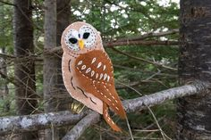 Owls have been in my thoughts lately. Although I created a pattern for one a few years ago, recent Barred Owl sightings and the sad loss of one piqued my interest to design another. I only wish I h…