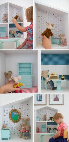 Scout -- dollhouse http://onemoremushroom.com/wp-content/uploads/2013/07/doll-house-diy3.png