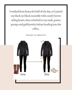 """""""Mum Slob"""": The Struggle is Real — The Capsule Project Change up your shoes and accessories to go from home to work."""