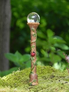 Fairy Garden Street Lamp Orb miniature by TheLittleHedgerow