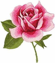 Red rose photo stitch free machine embroidery design - Photo stitch embroidery designs - Machine embroidery community