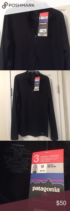 Patagonia men's half zip brand new Black long sleeve Patagonia half zip men's. Never worn brand new. Patagonia Shirts