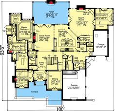 653964 Two Story 4 Bedroom 3 Bath French Country Style