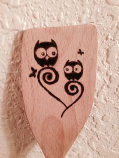 Woodburned spoon.