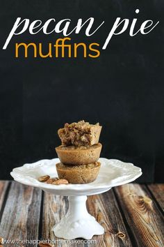 This Pecan Pie Muffin recipe is such a delicious breakfast treat, you ...