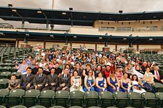 Baseball wedding group photo idea since you have all your loved ones in one place make a plan to file into the stands right after the ceremony and take some awesome group photos it will be a priceless memory and a way to make sure all of your guests get photographed