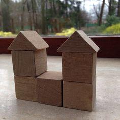 Bouwen met kubus en halve kubus. 7.