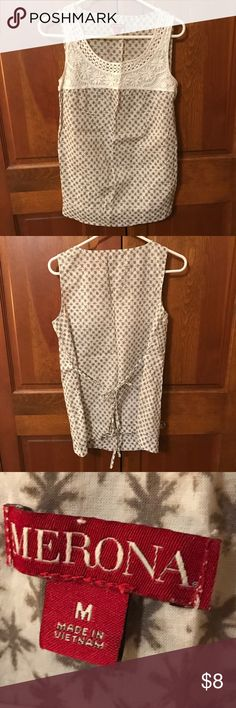 Patterned Sleeveless Tank gray/white color, patterned, size M, good condition, smoke free home Merona Tops Tank Tops