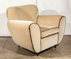 Elegant Art Deco Armchairs by Paolo Buffa | From a unique collection of antique and modern armchairs at http://www.1stdibs.com/furniture/seating/armchairs/