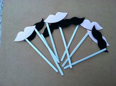 Lips and Mustache On A Stick Party Photo Booth by BuyBillerman, $10.00