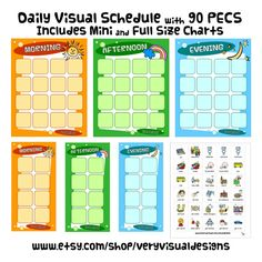 DAILY VISUAL SCHEDULE w/ 90 PeCs Picture by VeryVisualDesigns
