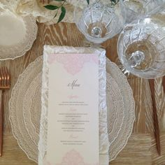 Mindy Weiss's Lace wedding invitation collection. Wedding Paper Divas, Lace Wedding Invitations, Invites, Mindy Weiss, Manners, Wedding Trends, Place Card Holders, Entertaining, Collection