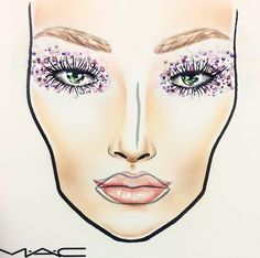 New Years Eve MAC facechart by Rebecca Frances