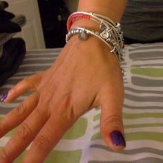 My Alex and Ani bracelets w/ Pandora.