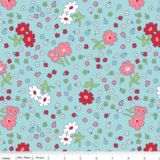 """""""Vintage Main in Blue"""" by Lori Holt from the collection """"Vintage Happy"""". Available at www.pinkcastlefabrics.com."""