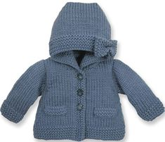 Discover thousands of images about Manteau : Laine › Manteau › Layette / Enfants › Laines Bouton d'Or Baby Knitting Patterns, Knitting For Kids, Baby Patterns, Knitted Baby Cardigan, Knitted Baby Clothes, Tricot Baby, Pull Bebe, Baby Girl Sweaters, Baby Coat