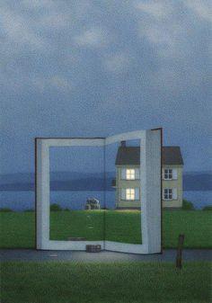 Oh, la prima sera che si può leggere con la finestra socchiusa.