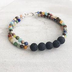 All The Gems   Aromatherapy Bracelet Lava Bracelet, Strand Bracelet, Diy Bracelet, Paracord Bracelets, Gemstone Jewelry, Beaded Jewelry, Handmade Jewelry, Handmade Beaded Bracelets, Jewelry Necklaces