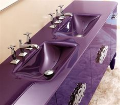 purple sinks